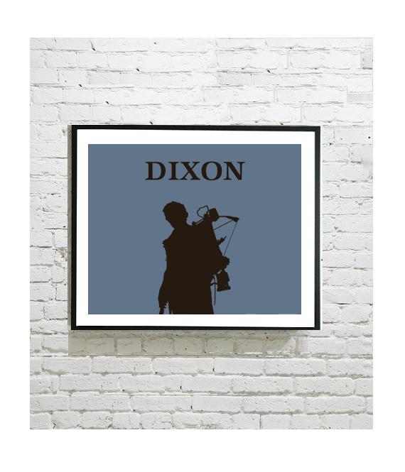 The Walking Dead Art Print – Daryl Dixon Silhouette